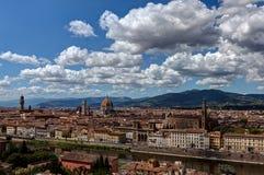 Взгляд Флоренс, Firenze, Тоскана, Италия Стоковые Изображения RF