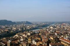 Взгляд Флоренции от старого дворца Стоковое Изображение