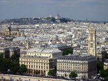 Взгляд холма Montmartre в Париже Стоковые Изображения RF