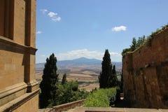 Взгляд холмов Тосканы Стоковое Фото