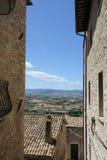 Взгляд холмов Тосканы Стоковая Фотография RF