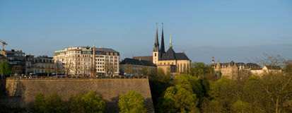 Взгляд центра города Люксембурга исторического Стоковые Изображения