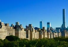 Взгляд центра города Нью-Йорка Манхаттана Стоковая Фотография