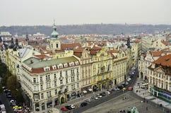 Взгляд центра города Праги Стоковые Фото