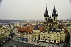 Взгляд центра города Праги Стоковое Изображение