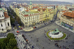Взгляд центра города Праги Стоковая Фотография
