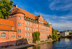 Взгляд центра города Страсбург Стоковые Изображения