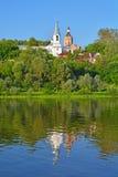 Взгляд церков аннунциации благословленного собора девственницы и восхождения в городе Kasimov, России Стоковое фото RF