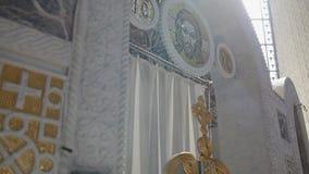 Взгляд церков внутрь сток-видео