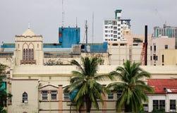 Взгляд церков на районе Baclaran в Маниле, Филиппинах стоковая фотография rf