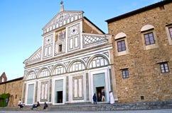 Взгляд церков Флоренса San Miniato средневековый Стоковое фото RF