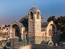Взгляд церков St Peter в Gallicantu на Иерусалиме старом cit Стоковое фото RF