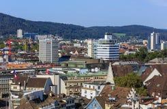 Взгляд Цюриха от башни собора Grossmunster Стоковые Изображения