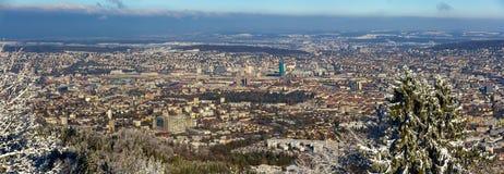Взгляд Цюриха от горы Uetliberg - Швейцарии Стоковые Фото