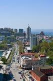 Взгляд части Владивостока Россия 22 05 2015 Стоковая Фотография
