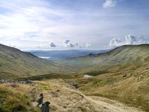 Взгляд через долину Scandale, район озера Стоковое Изображение