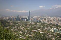 взгляд Чили de панорамный santiago Стоковая Фотография