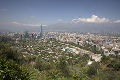 взгляд Чили de панорамный santiago Стоковые Фотографии RF