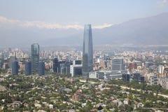 взгляд Чили de панорамный santiago Стоковое фото RF