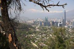 взгляд Чили de панорамный santiago Стоковое Изображение