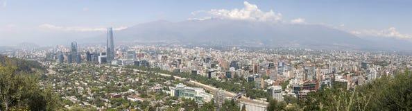 взгляд Чили de панорамный santiago Стоковое Изображение RF