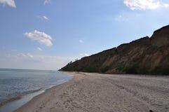 Взгляд Чёрного моря В выходных после полудня в солнечном дне Стоковые Фотографии RF