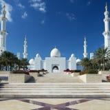 Взгляд шейха Zayed Грандиозн Мечети Стоковое фото RF