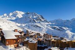 Взгляд лыжного курорта 3 долин, Франции Val Thorens Стоковые Фото
