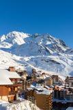 Взгляд лыжного курорта 3 долин, Франции Val Thorens Стоковое фото RF
