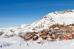 Взгляд лыжного курорта 3 долин, Франции Val Thorens Стоковая Фотография RF