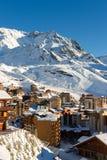 Взгляд лыжного курорта 3 долин, Франции Val Thorens Стоковые Изображения RF