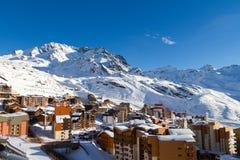 Взгляд лыжного курорта 3 долин, Франции Val Thorens Стоковое Фото