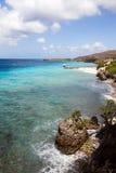 Взгляды береговой линии вокруг острова Curacao карибского стоковые изображения rf