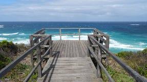 Взгляды входа западной Австралии Walpole на пасмурный день Стоковые Изображения