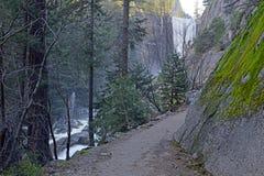 Взгляды вдоль тумана отстают до весеннего падения, Yosemite Стоковая Фотография RF