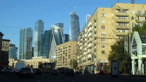 Взгляды города Москвы делового центра видеоматериал