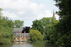 Взгляды городка Brugge (Бельгия) Стоковые Фотографии RF