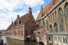 Взгляды городка Brugge (Бельгия) Стоковое фото RF
