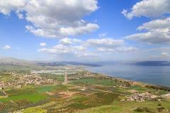 Взгляды держателя Arbel и утесов Израиль Стоковое Изображение