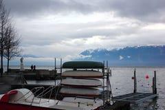 Взгляды женевского озера Стоковое Фото