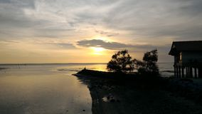 взгляды захода солнца Стоковые Фотографии RF
