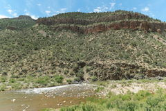 Взгляды каньона реки соли стоковое изображение rf