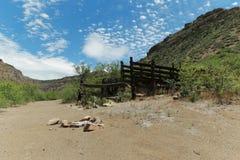 Взгляды каньона реки соли стоковое фото rf