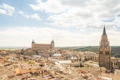 Взгляды к историческому городку toledo, Испании Стоковое Изображение RF