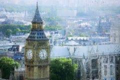 Взгляды Лондона через стекло стоковое изображение rf