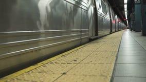Взгляды метро в NYC сток-видео