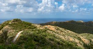 Взгляды национального парка Christoffel к морю стоковые фотографии rf