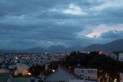 Взгляды ночи Nha Trang Вьетнам, Nha Trang стоковое изображение rf