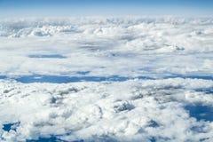 Взгляды облаков от высоты Стоковые Изображения
