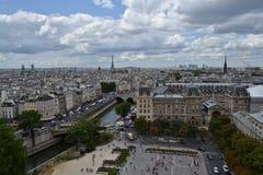 Взгляды от Нотр-Дам, Парижа Стоковое Фото